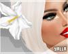 Hair Flower WHITE