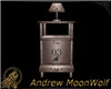 MW Nightstandw-Lamp Mesh