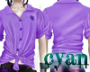 *c* Lavender TieUp Shirt