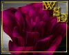 2 Magenta Hair Roses