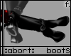 :a: Black PVC Pony Boots