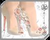 ~AK~ Cream Flower Heels