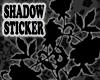 Shadow Roses Sticker