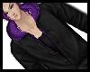 Hoddie black/purple