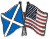 Scotland/USA Pin Flags