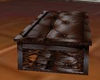 brown leather coffee tab