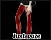 Red Cobweb Stockings