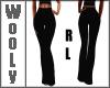 Black stribed pants RL