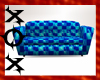Blue Checkers Couch