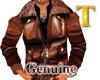 (TM)brown leather jacket