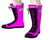 Pink/Black Converse
