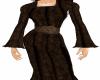 brown medieval gown