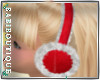 Xmas Fur Ear Muffs Red