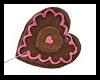 chocolate heart lolli