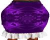 Purple Gathered  Skirt