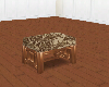cc foot stool brown