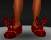 [MDF]red plaid slipper m