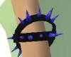 PVC Blue Spike Armband