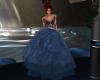 Sexy Blue Ballroom Dress