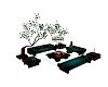 teal garden seating