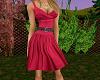 TF* Pink belted sundress
