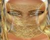 Gold Black Dbl Veil