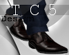 Dark brown formal shoes