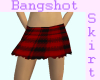 B&R Plaid Ripped Skirt
