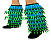Mardi Gras Feather Boots