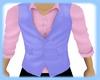{D}Blue and pink vest