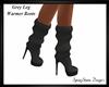 Grey Leg Warmer Boots