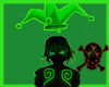 Toxic Green Joker Hat