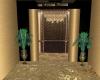 Gold Elevator Hallway