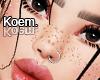 "K"" Freckles + Piercing"
