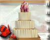 CREAM BRONZE STRIPE CAKE
