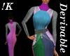 !K! Grecian Gown Mesh