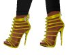 Zipper Yellow Heels