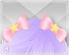 A| Pink Star Hair Bows