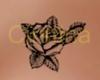 Tattoo rosa petto sx