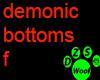 Demonic bottoms