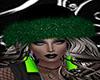 Black Green Santa Hat