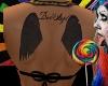 Angel Wing Back Tattoo