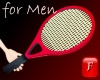 [f] Tennis Racket-red-m