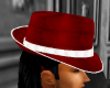 Red and White Fedora