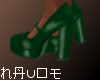 Ⓝ. Green Vintage Pumps