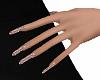 Dainty Hands Pink Glit