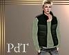 PdT Blk&Loden Puff Vest