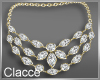 C gold diamond necklace
