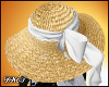 D- Straw White Lace Hat