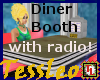 diner booth with radio